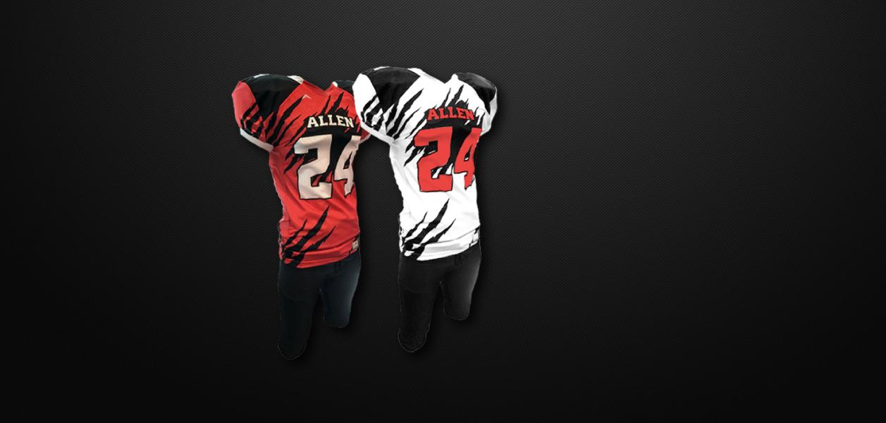 Custom Stock Football Uniforms for Men and Kids Football Teams