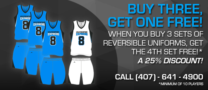 buy 3 get 1 free basketball uniforms