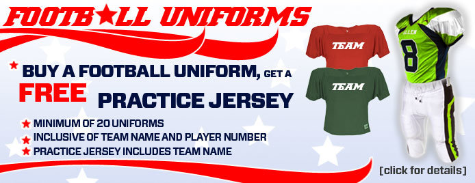Early Bird Special for Team Sports Uniforms
