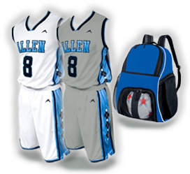 Home and Away basketball uniform free backpack