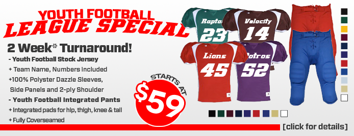 Youth Football Uniform League Special
