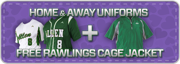 Free Rawlings Cage Jacket at www.allensportswear.com/promos/baseball