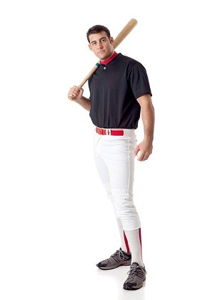 College men's baseball player