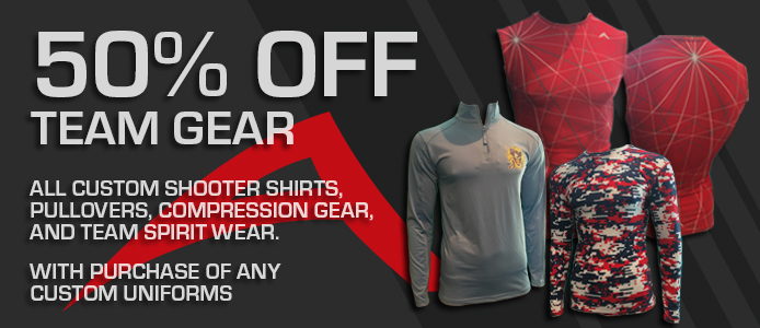 50% OFF all team sports apparel