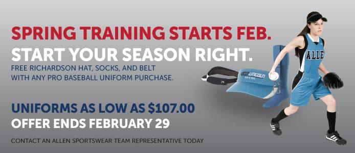 Spring training softball uniform sale!