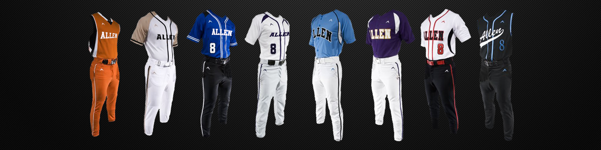 09a499d6f77 Men s and Boys Baseball Uniforms with Custom Designs