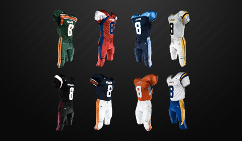 PRO FOOTBALL UNIFORMS