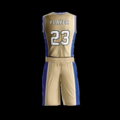Custom basketball uniform PRO 207 back view