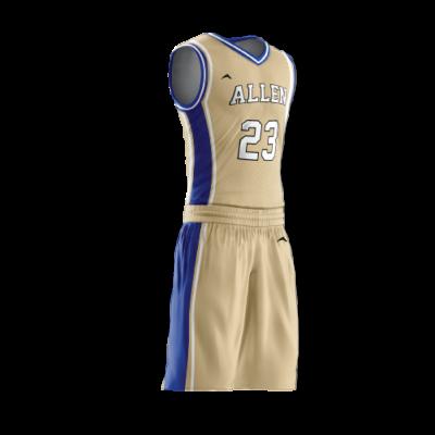 Custom basketball uniform PRO 207 side view