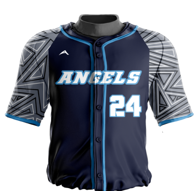 Baseball Jersey Sublimated Angels