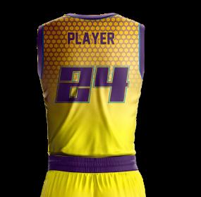 Basketball Jersey Sublimated Hornets Back