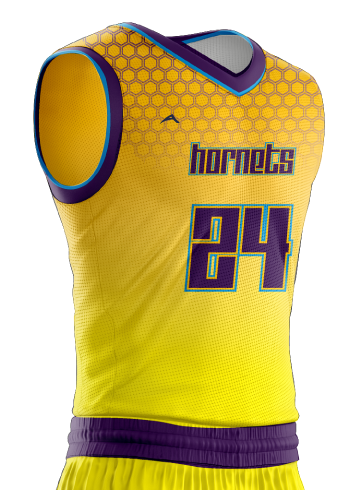Basketball Jersey Sublimated Hornets Side