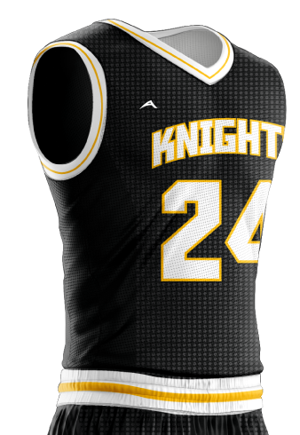 Basketball Jersey Sublimated Knights Side