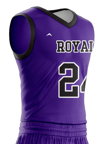 Basketball Jersey Sublimated Royals Side