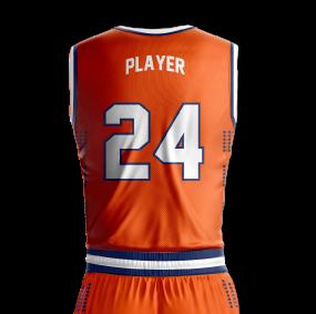 Basketball Jersey Sublimated University Back