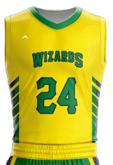 Image for Basketball Jersey Sublimated Wizard