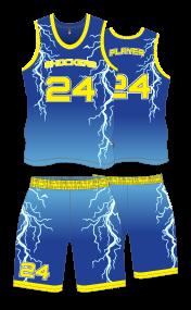 Image for Basketball Uniform Sublimated Shockers
