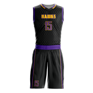 Image for Basketball Uniform Sublimated Hawks