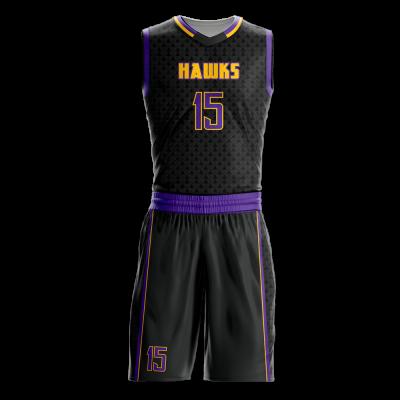 Basketball Uniform Sublimated Hawks