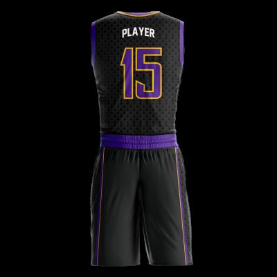 Basketball Uniform Sublimated Hawks Back