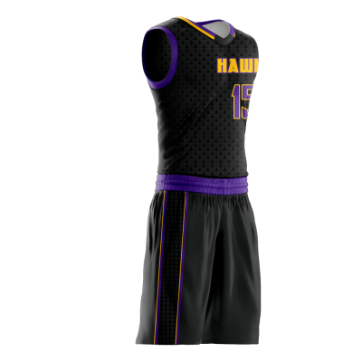 Basketball Uniform Sublimated Hawks Side