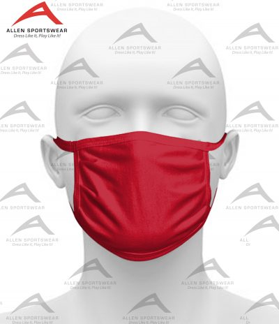 COTTON FACE MASK NEW RED