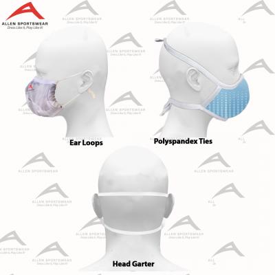Ear loop, head tie and garter options