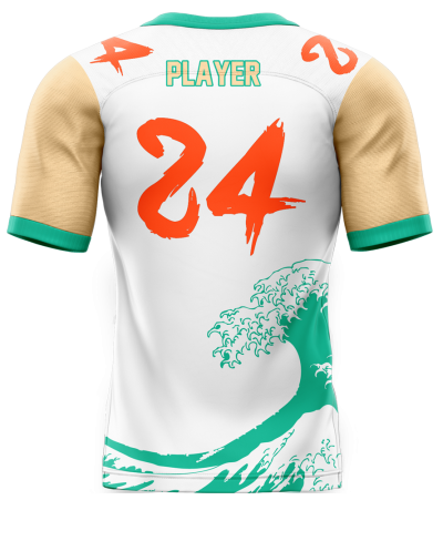 Flag Football Jersey Sublimated Riptide Back
