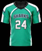 Flag Football Jersey Sublimated Shark