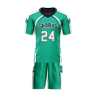 Flag Football Uniform Sublimated Sharks Front