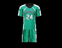 Flag Football Uniform Sublimated Sharks Front