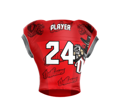 Football Jersey Sublimated Outlaw Back