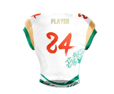Football Jersey Sublimated Riptide Back