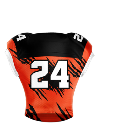 Football Jersey Sublimated Torn Apart Back