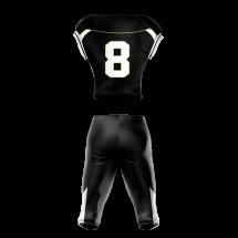 Football Uniform Sublimated 505 Back
