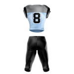 Football Uniform Sublimated Pearl Back