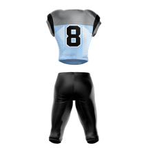 Football Uniform Sublimated Pearl Back