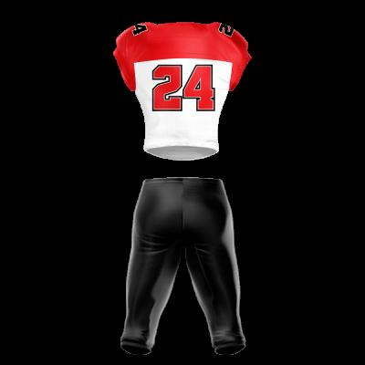 Football Uniform Sublimated Tiger Back