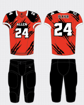football uniform sublimated torn apart