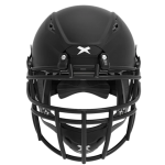 Matte black helmet shell, black facemask XRS  2 2X