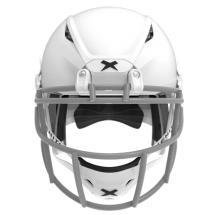 Matte white helmet shell, grey facemask XRS  2 1S