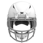 Matte white helmet shell, grey facemask XRS  2 2S