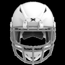 Matte white helmet shell, grey facemask XRS  2 2S