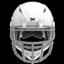 Matte white helmet shell, grey facemask XRS  2 2X