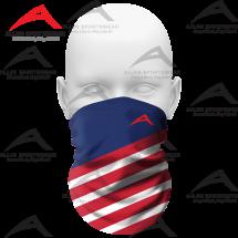 Neck Gaiter US Flag with Custom logo