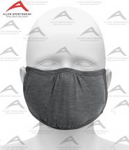SHAPED FACE MASK HEATHER CHARCOAL