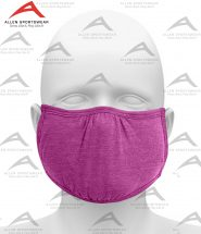 SHAPED FACE MASK HEATHER PINK RASPBERRY