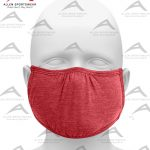 SHAPED FACE MASK HEATHER RED