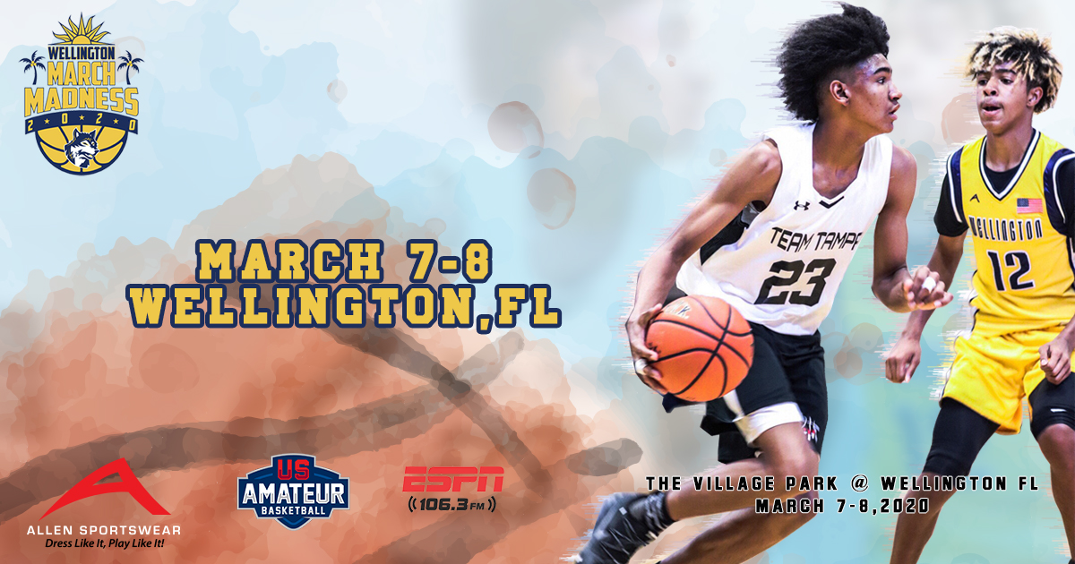Tournament Date Wellington March Madness FB