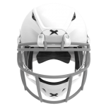 White helmet shell, grey facemask XRS  2 1S